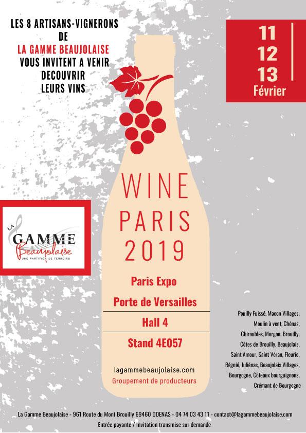 invitation wine paris