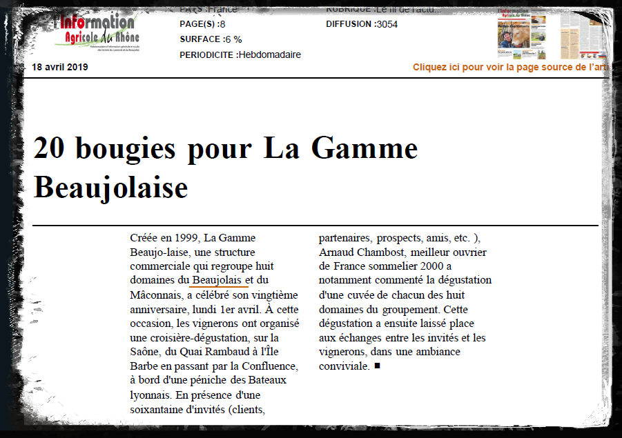 Article info agricole